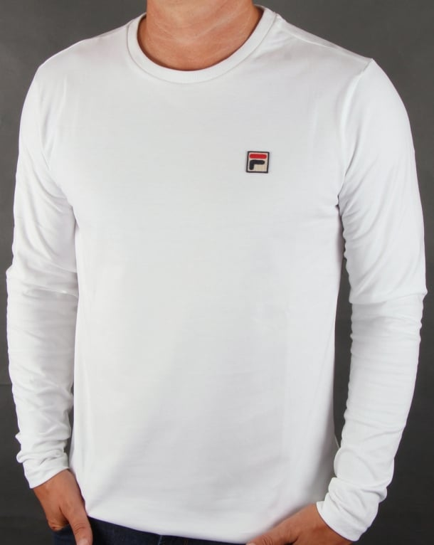 Fila Vintage Long Sleeve T-shirt White