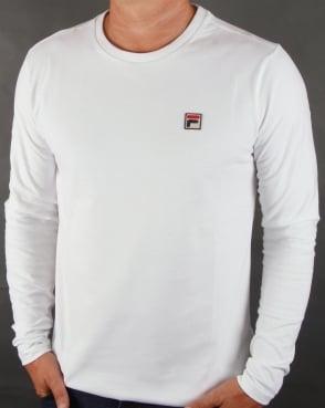 Fila Vintage Long Sleeve T-shirt White