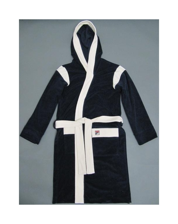 Fila Vintage Lounger Dressing Gown Navy/White - fila lounger robe ...