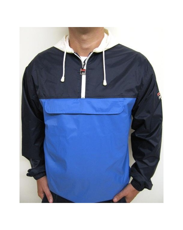 Fila Vintage Macker Cagoule Jacket Navy/Royal Blue