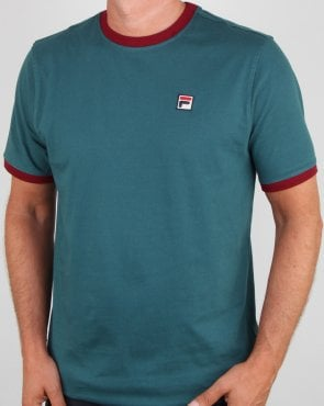 Fila Vintage Marconi T Shirt Atlantic Blue