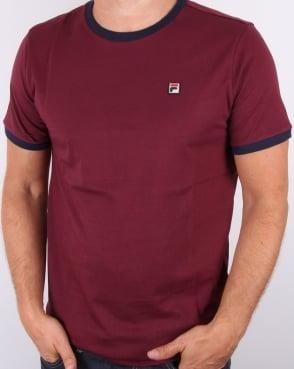 Fila Vintage Marconi T-shirt Burgundy