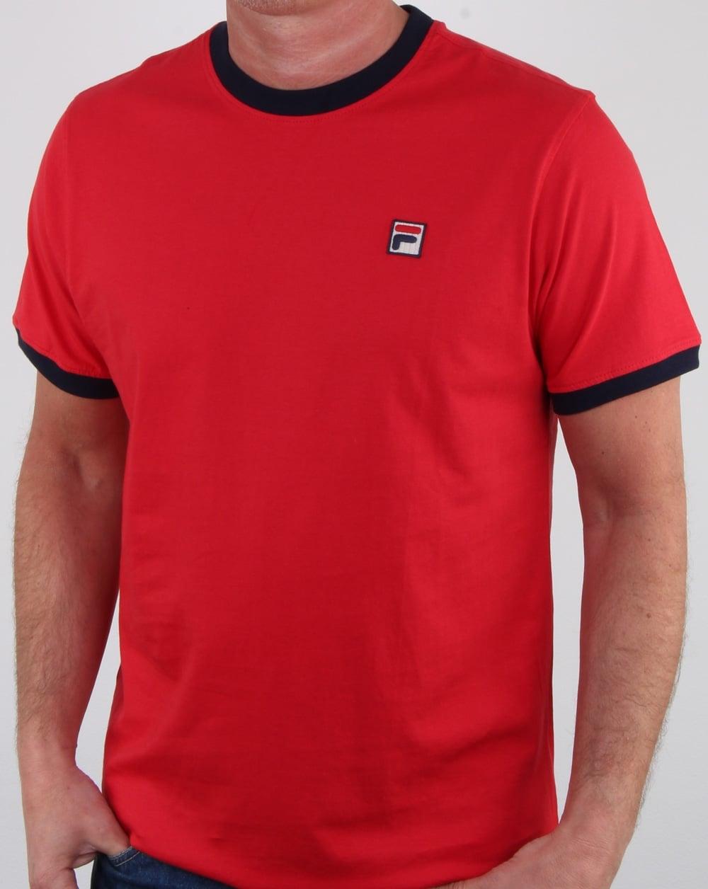 4d0e82b85264 Fila Vintage Fila Vintage Marconi T Shirt Red navy