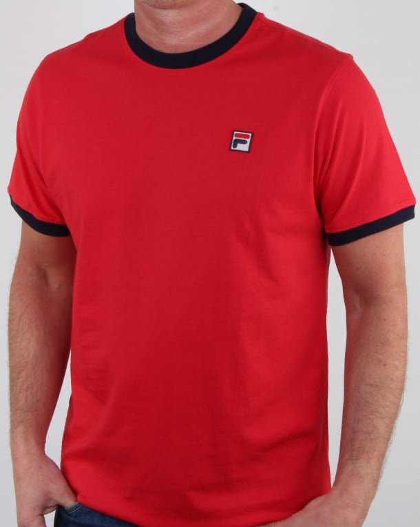 Fila Vintage Marconi T Shirt Red/navy
