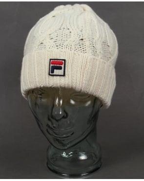 Fila Vintage Marsura Knitted Ski Beanie Gardenia