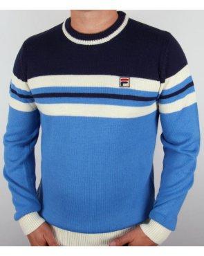Fila Vintage Martelli Jumper Ocean Blue