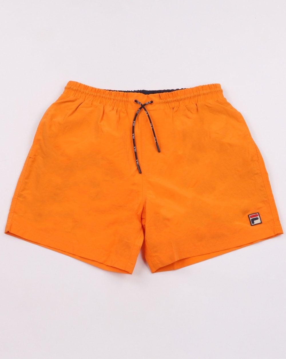 Fila Vintage Martin Retro Swim Shorts Sun Orange   80s Casual Classics bbed4a2cf