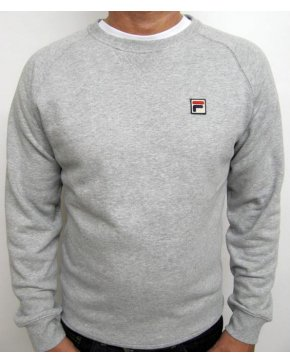 Fila Vintage Massimo Crew Neck Sweatshirt Grey Marl