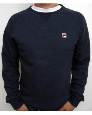 Fila Vintage Massimo Crew Neck Sweatshirt Navy