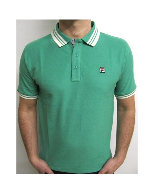 Fila Vintage Match Polo Shirt Mint Green
