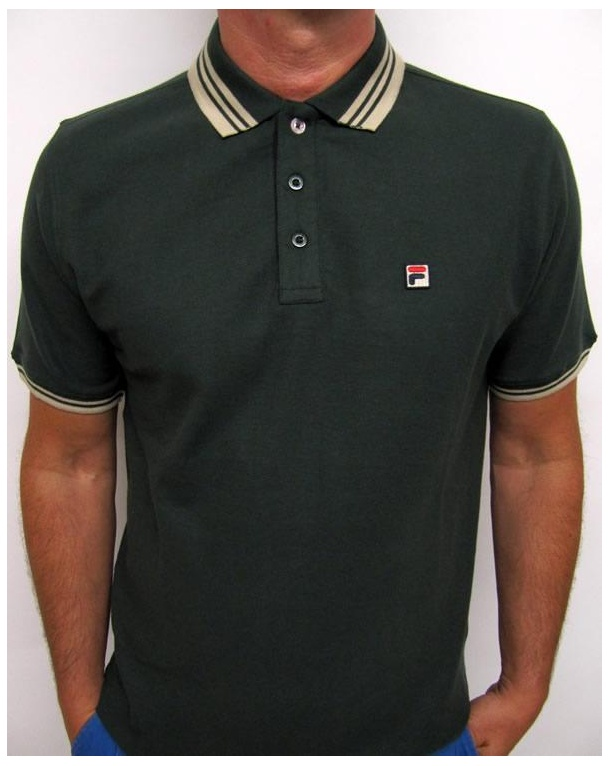 Fila Vintage Match Polo Shirt Racing Green