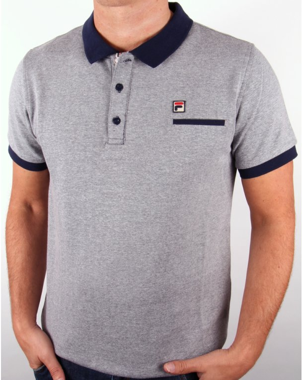 Fila Vintage Matchbird Polo Shirt Navy