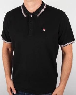 Fila Vintage Matcho 3 Polo Shirt Black