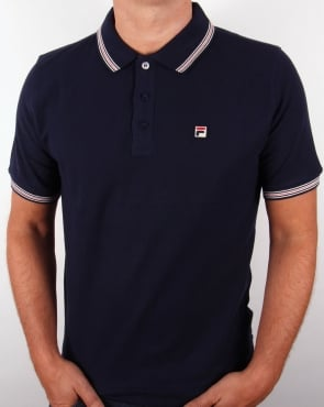 Fila Vintage Matcho 3 Polo Shirt Navy