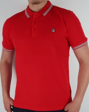Fila Vintage Matcho 3 Polo Shirt Red