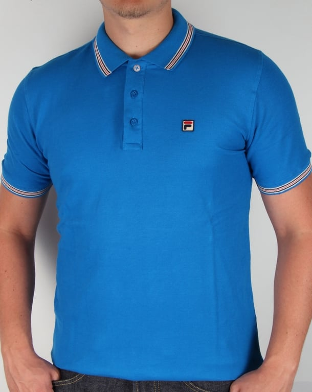 Fila Vintage Matcho 3 Polo Shirt Ski Blue
