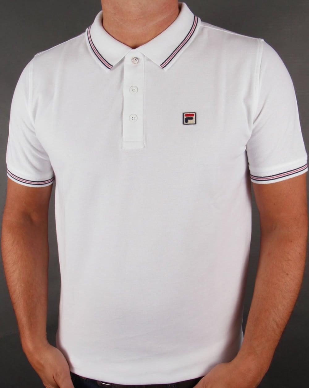 0f57de5bbe Fila Vintage Fila Vintage Matcho 3 Polo Shirt White