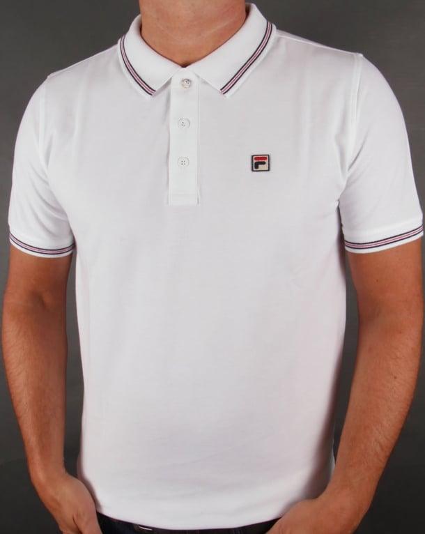 Fila Vintage Matcho 3 Polo Shirt White
