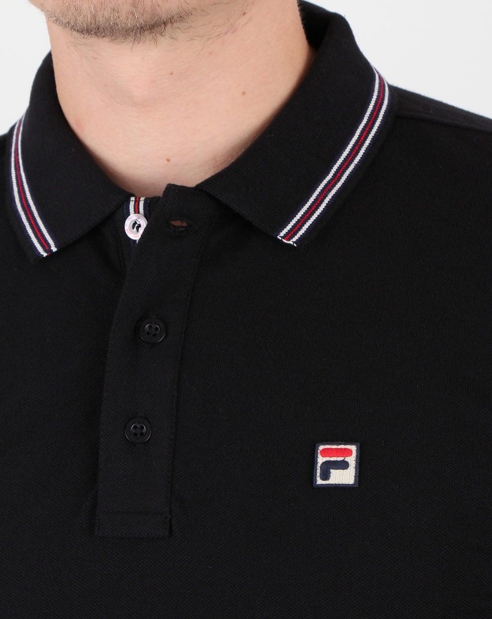 Fila Vintage Matcho 4 Polo Shirt Black