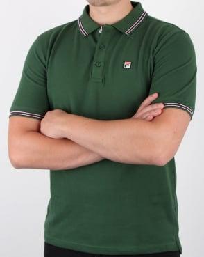 Fila Vintage Matcho 4 Polo Shirt Green