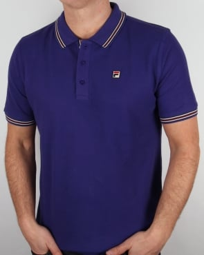 Fila Vintage Matcho 4 Polo Shirt Purple