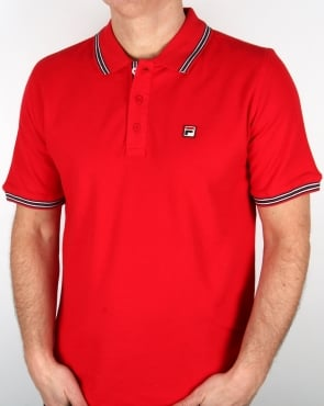 Fila Vintage Matcho 4 Polo Shirt Red