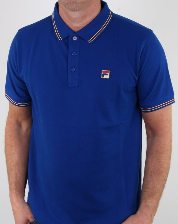 Fila Vintage Matcho 4 Polo Shirt Royal Blue