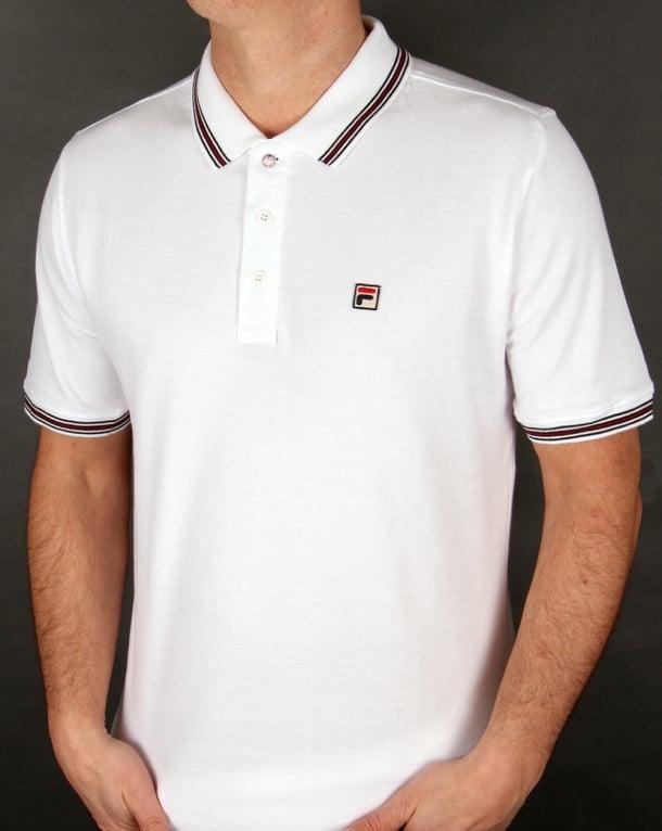 Fila Vintage Matcho 4 Polo Shirt White