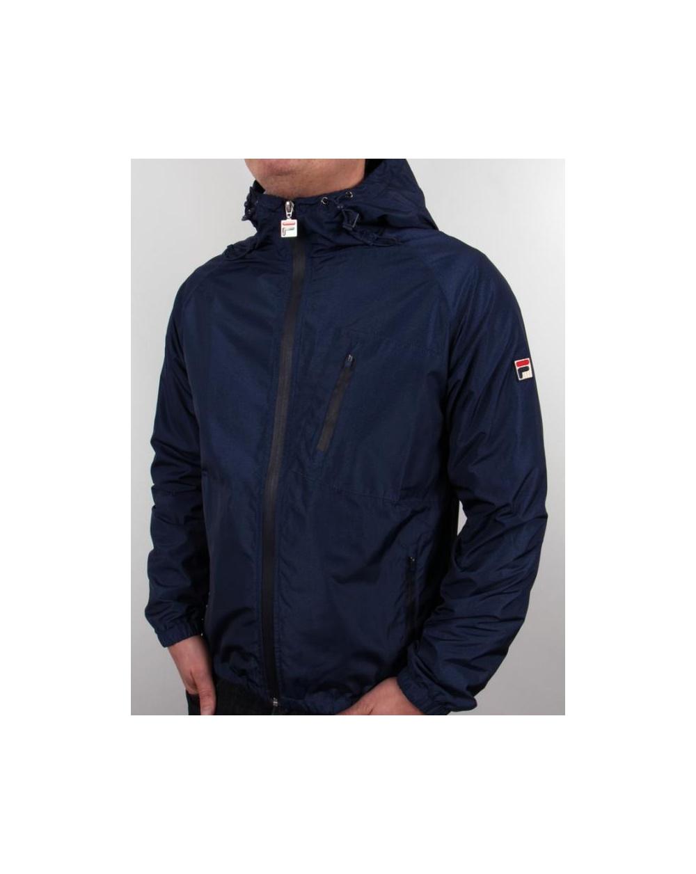 896ef2daaf9 Fila Vintage Micca Hooded Jacket Navy - fila vintage micca jacket ...