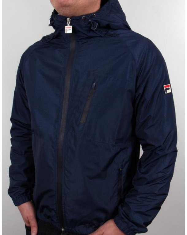 Fila Vintage Micca Hooded Jacket Navy