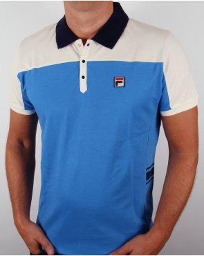 Fila Vintage Mivvi Polo Shirt Ocean Blue