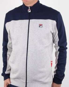 Fila Vintage Mivvi Track Top Light Grey Marl