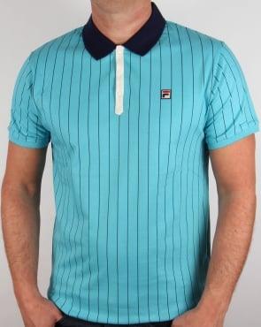 Fila Vintage Mk1 Settanta Polo Shirt Blue Azure
