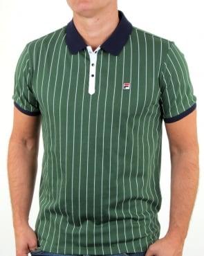 Fila Vintage Mk1 Settanta Polo Shirt Green/Navy