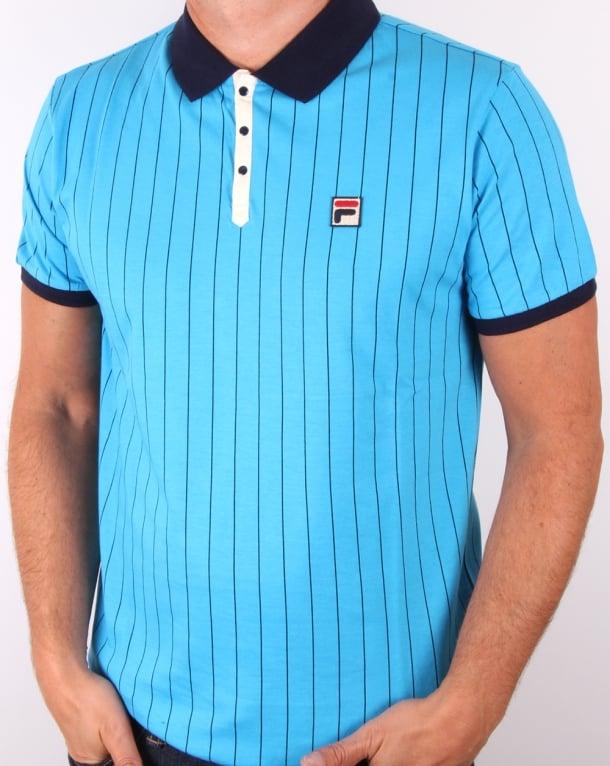 Fila Vintage Mk1 Settanta Polo Shirt Malibu Blue