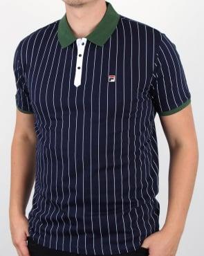 Fila Vintage Mk1 Settanta Polo Shirt Navy/Green