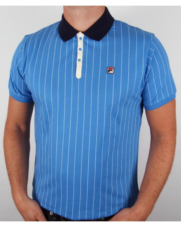Fila Vintage Mk1 Settanta Polo Shirt Ocean Blue
