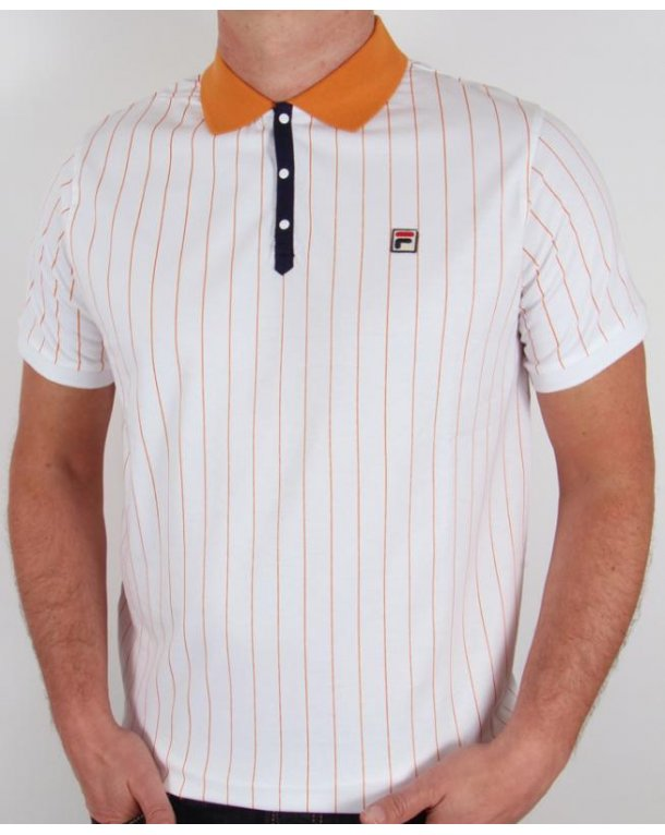 Fila Vintage Mk1 Settanta Polo Shirt White/Copper