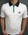 Fila Vintage Mk1 Settanta Polo Shirt White/Green/Navy