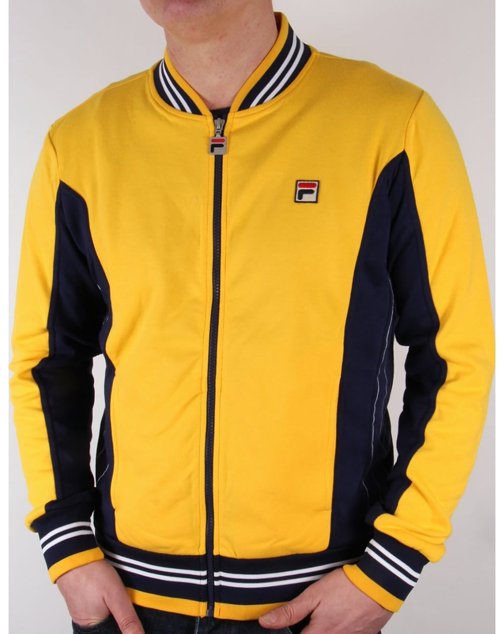 Fila Vintage Mk1 Settanta Track Top Yellow Navy Tracksuit