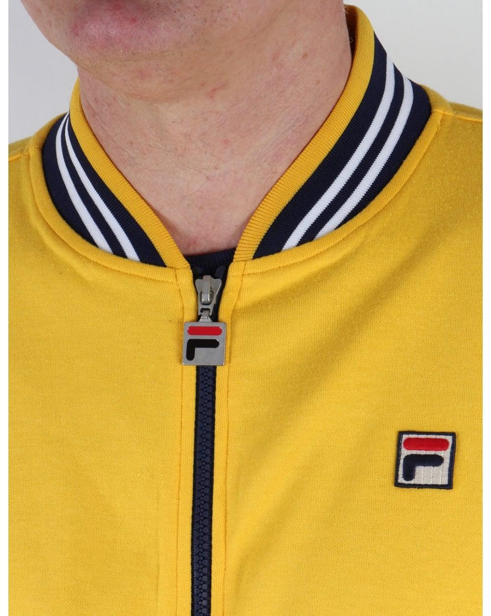 fila yellow top. fila vintage mk1 settanta track top golden yellow