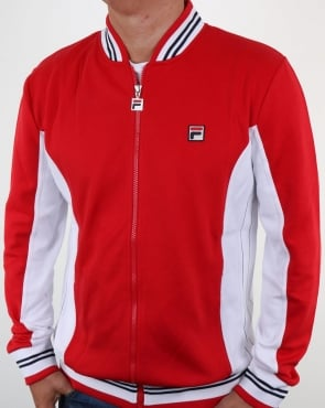Fila Vintage Mk1 Settanta Track Top Red - White