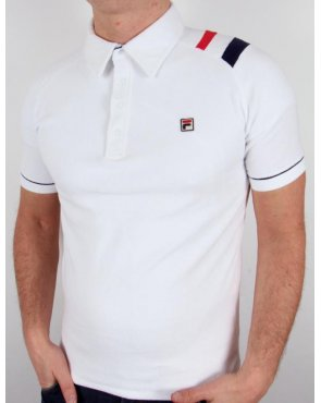 Fila Vintage Mk2 Salice Polo Shirt White/navy/red
