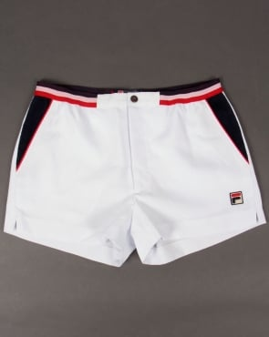 Fila Vintage Mk2 Settanta Shorts White/Navy/Red