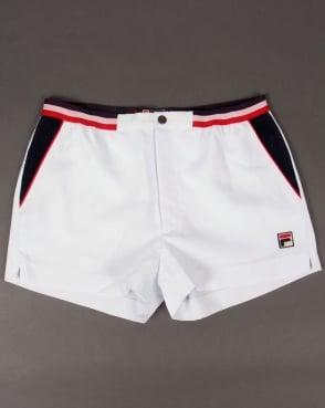 Fila Vintage Mk2 Settanta Shorts White/Navy/Red