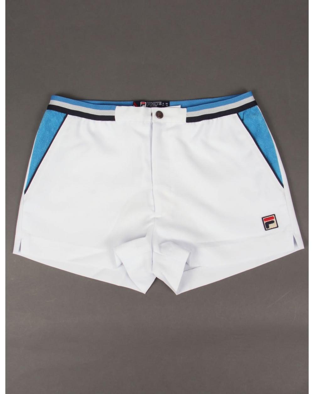Fila Vintage Mk2 Settanta Shorts White/ocean Blue/navy - vintage ...