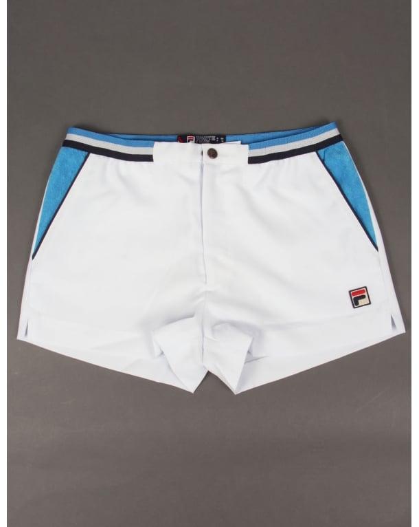 Fila Vintage Mk2 Settanta Shorts White/ocean Blue/navy