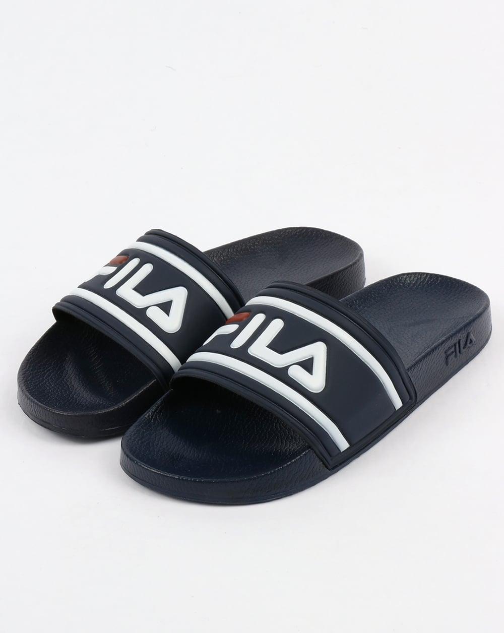 Fila Vintage Morro Bay Slides Navy Blue Sliders Sandals