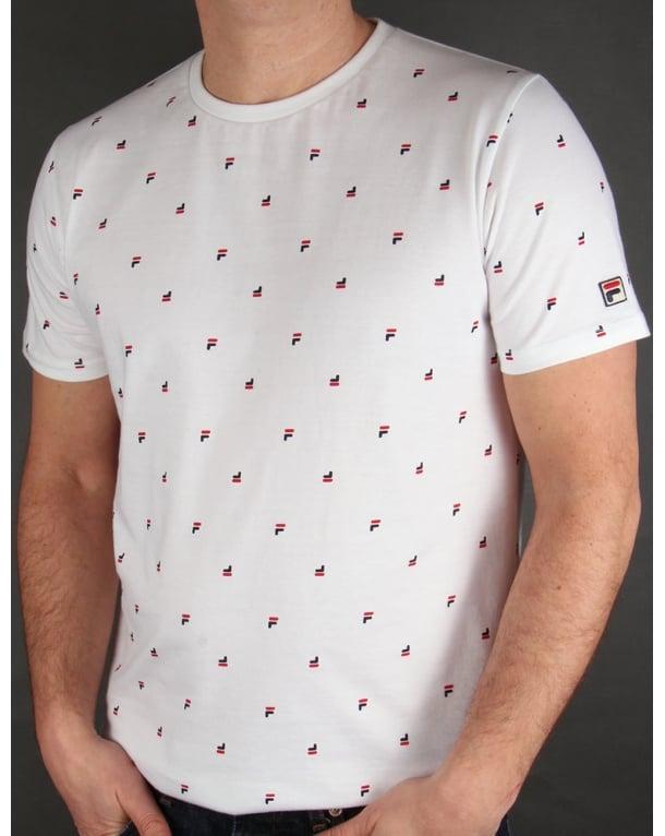 Fila Vintage Multi Logo T-shirt White