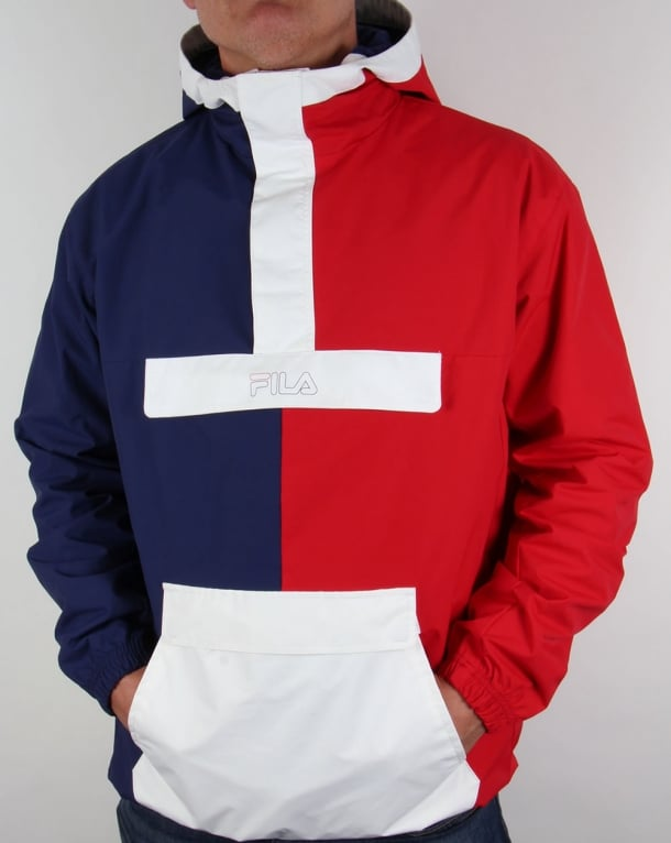Fila Vintage Napoli Overhead Jacket Navy/Red/White